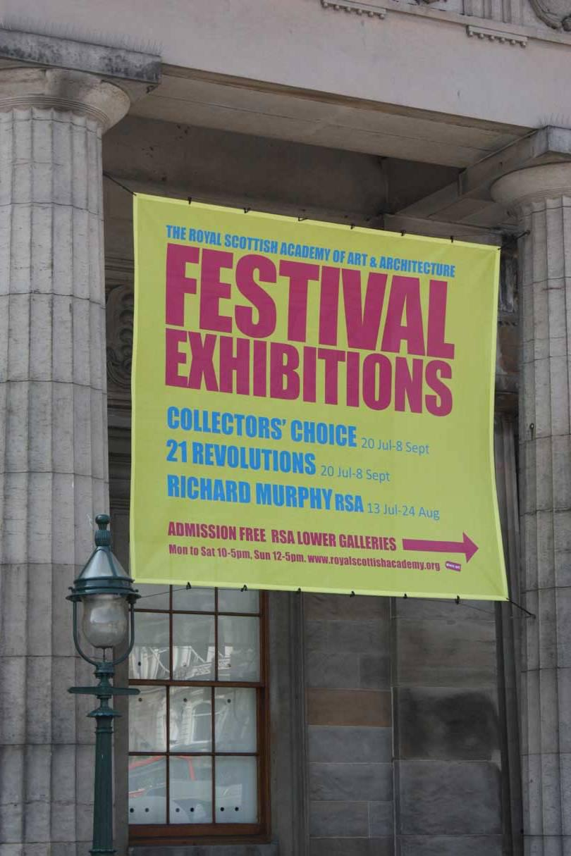 Royal Scottish Academy Exhibition Banner