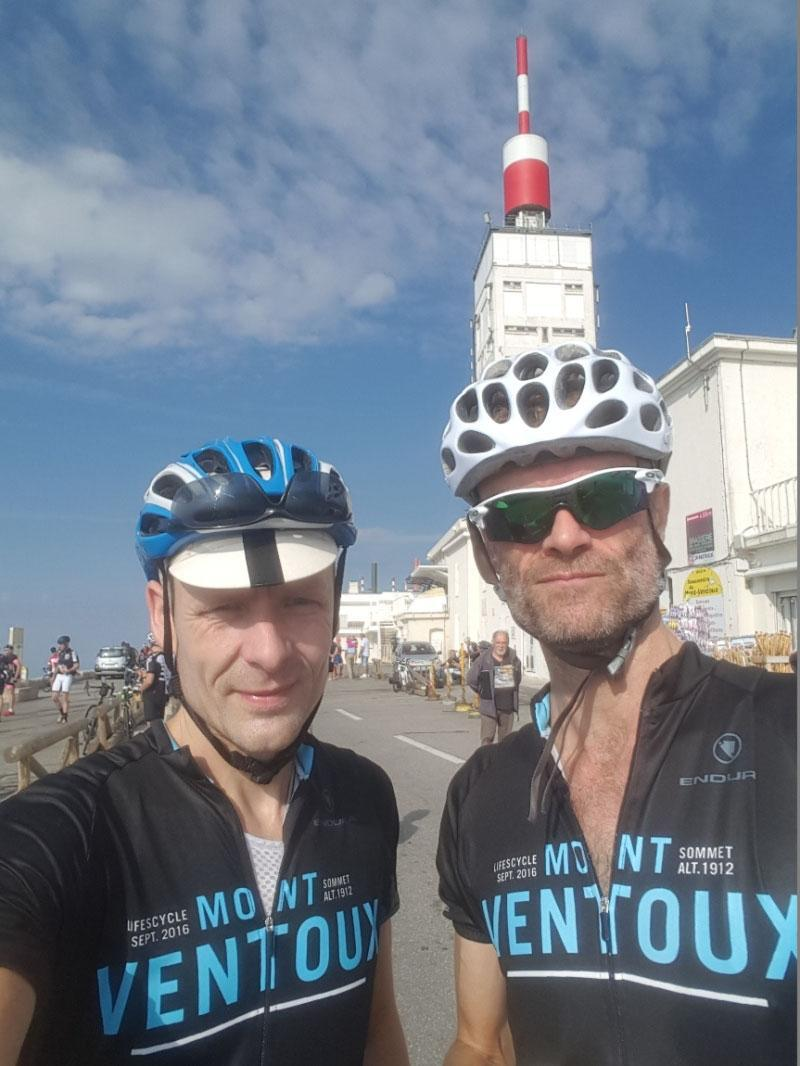 Bill and James at Mount Ventoux, Provence
